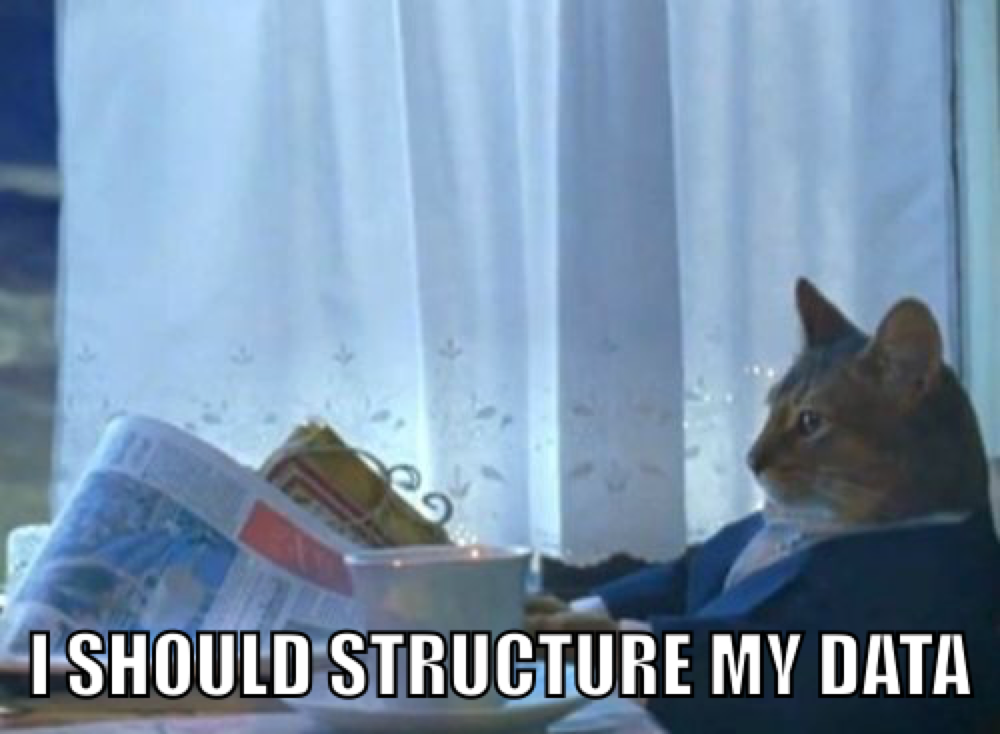 structure data meme