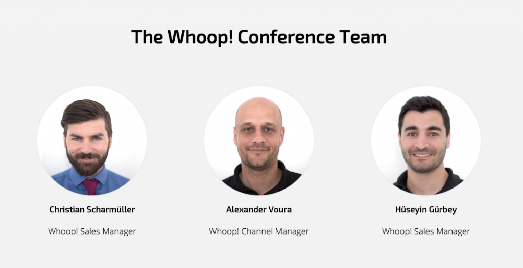 whoop conference team