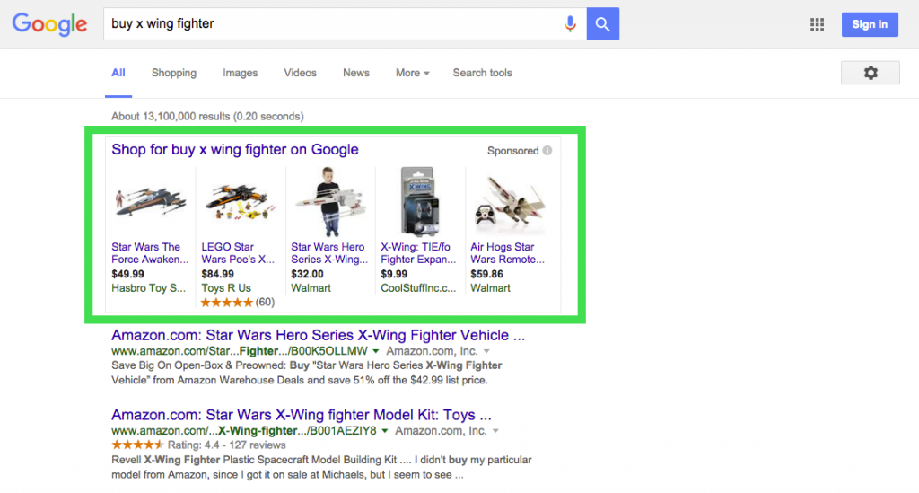 google is testing a new google shopping ads layout