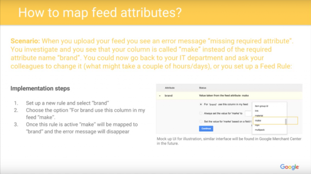 google shopping feed attributes