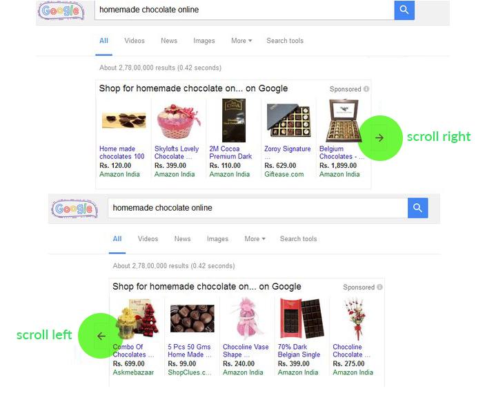 Google PLA scrolling