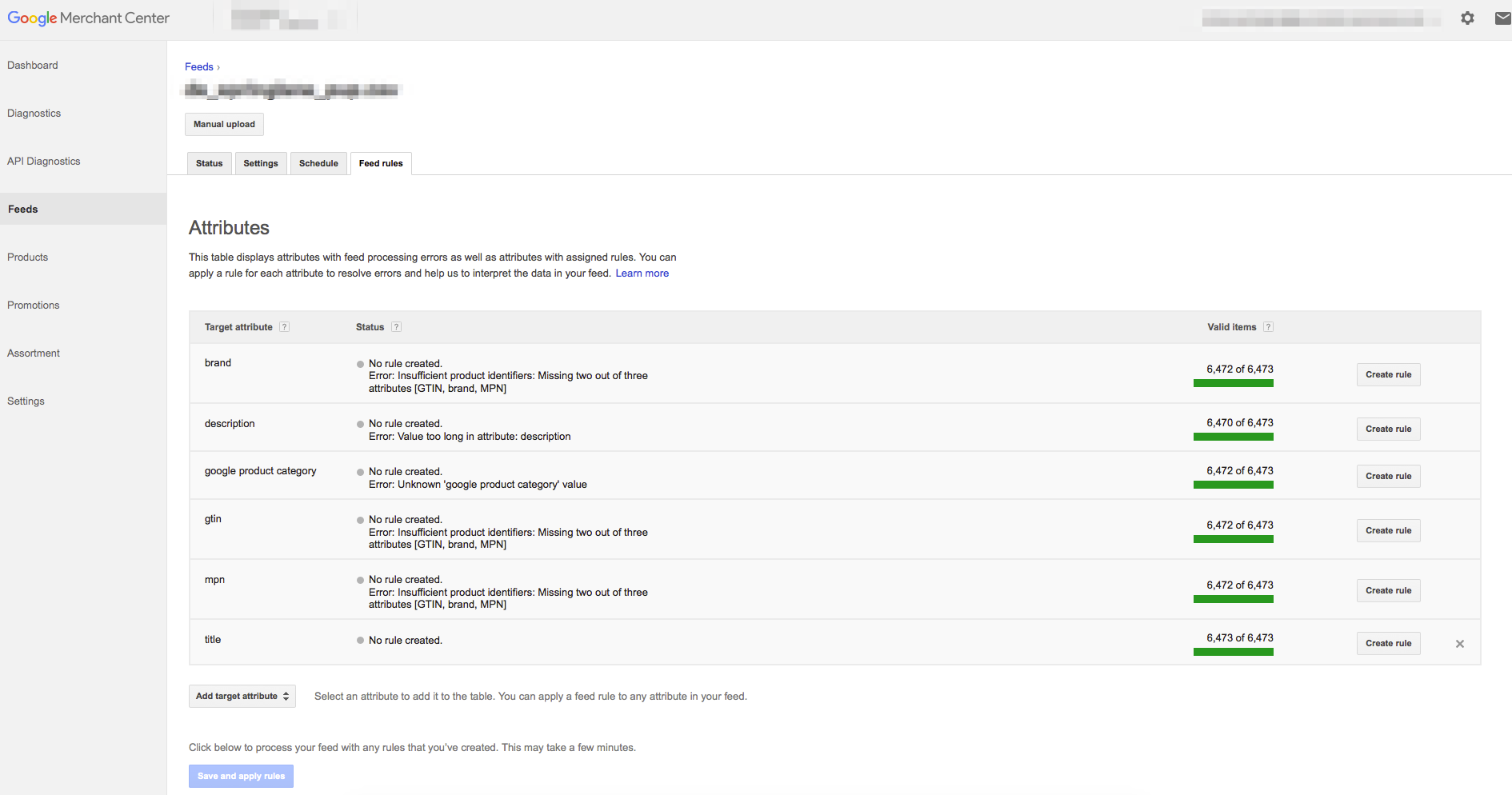 You can now edit your feed in the Google Merchant Center