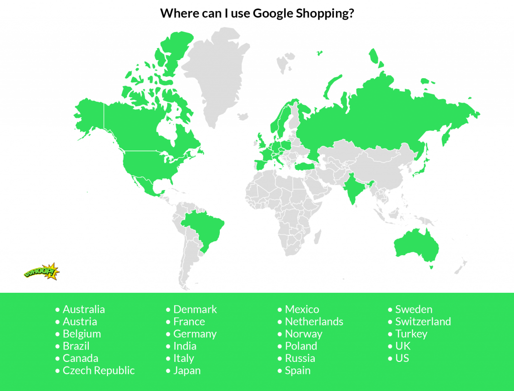 google shopping availability map and list
