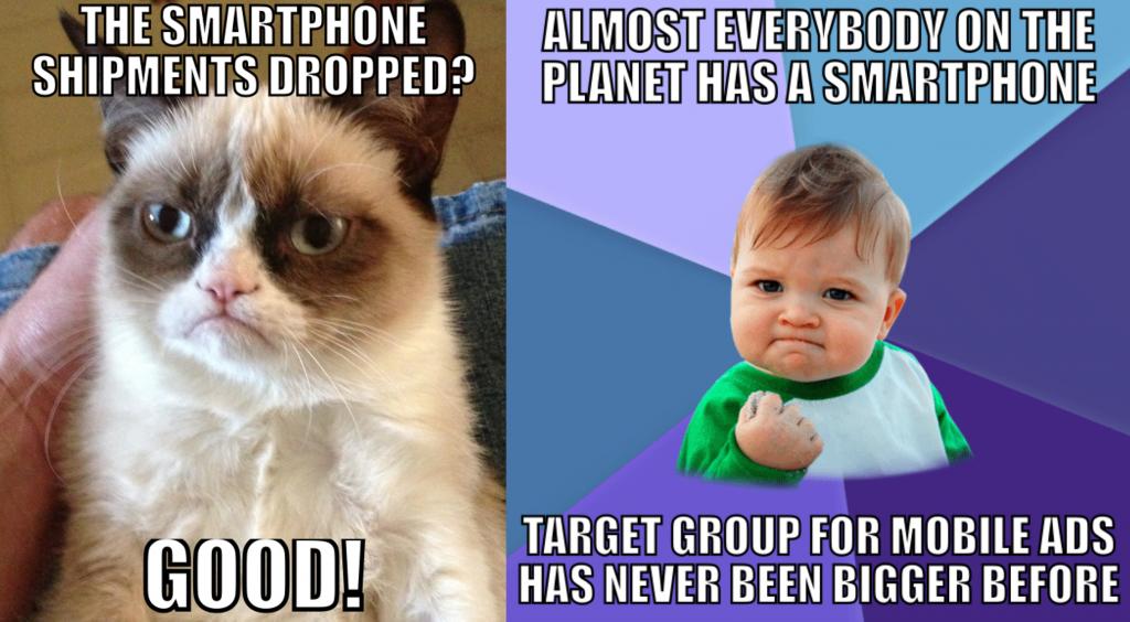 smartphone shipments meme
