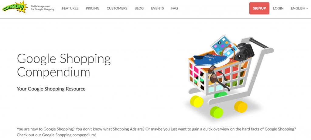 Google Shopping Compendium Whoop!