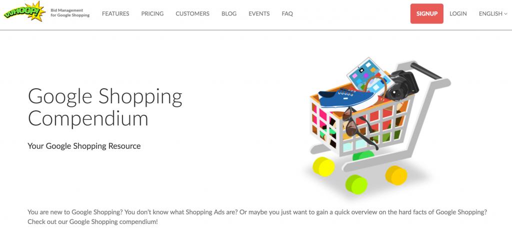 Google Shopping Compendium Whoop!