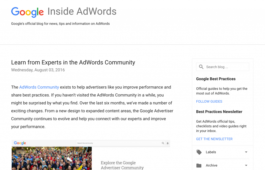 Inside AdWords