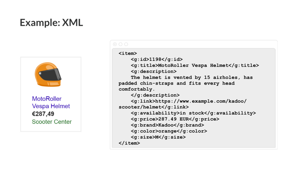 product feed xml example