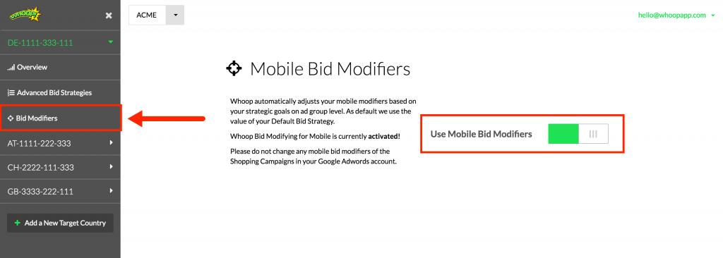 Bid Modifiers Google Shopping
