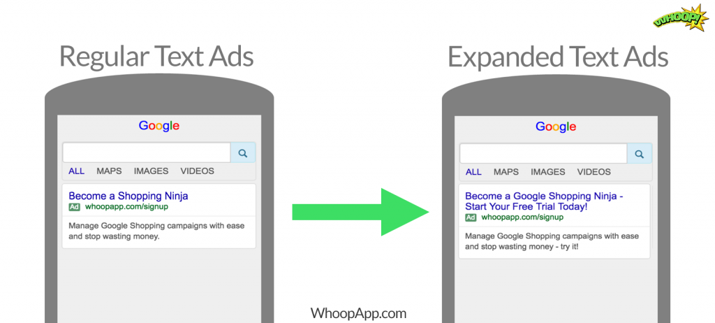 expanded text ads before and after