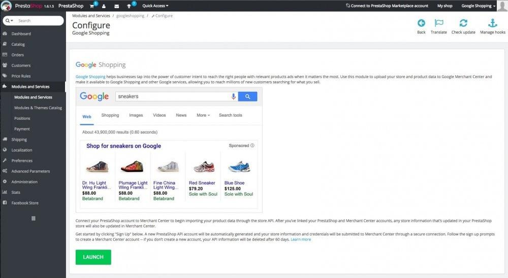 prestashop-google-shopping preview