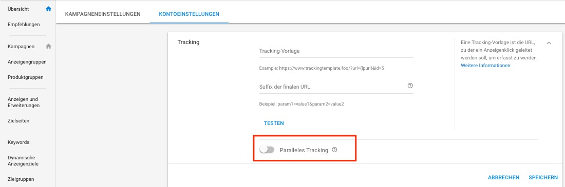 Parallel tracking is waiting to be activated. Try it out!
