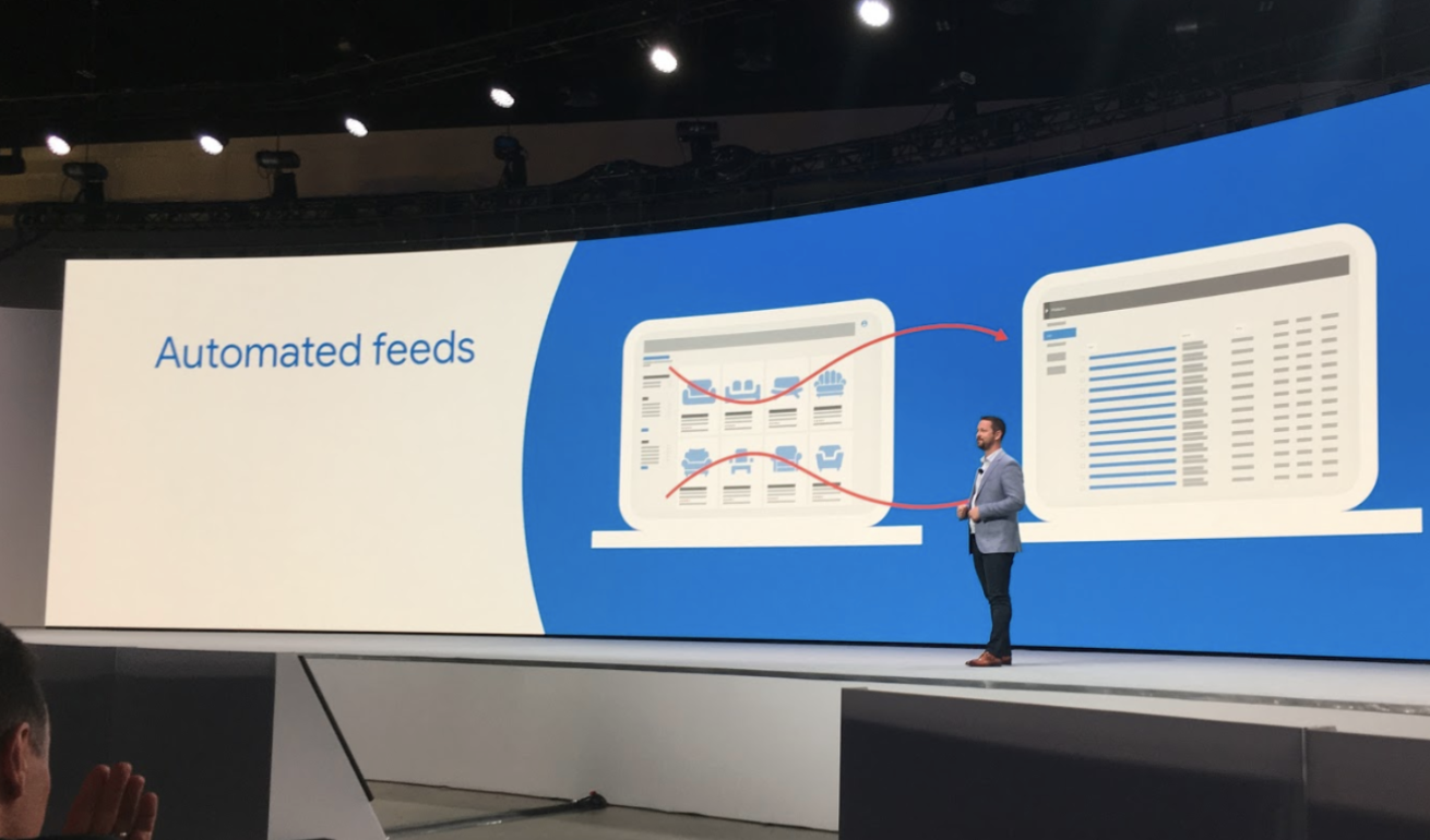 Google presents automated feeds at Google Marketing Live in San Jose