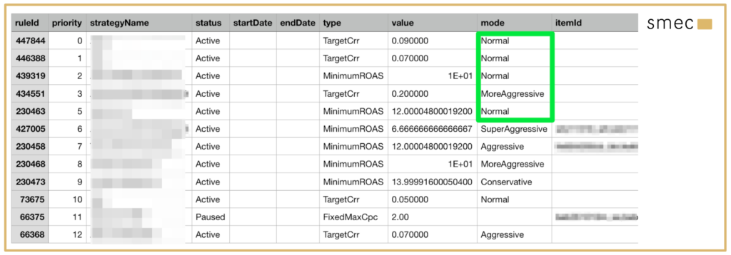 Use case: change your ABS strategies within the .csv file
