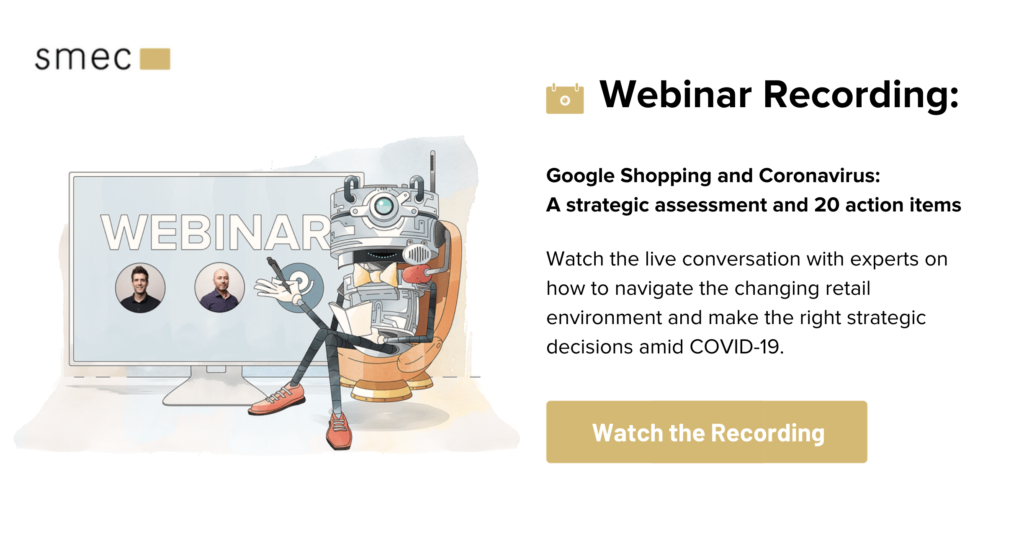 Webinar Recording: Google Shopping and Coronavirus