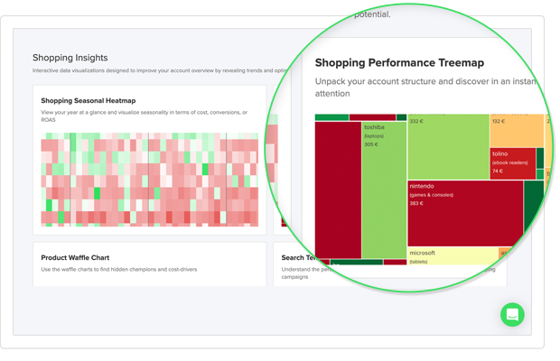 Schreenshot of Shopping Insights feature of Whoop!